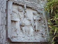 関帝廟の外側の彫刻