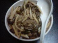青椒牛肉絲丼