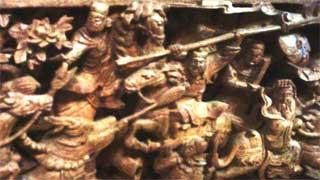 東京媽祖廟内の彫刻